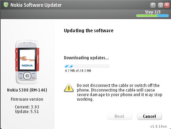 Nokia firmware updating software